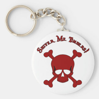 Shiver Me Timbers - Skull and Crossbones Keychain
