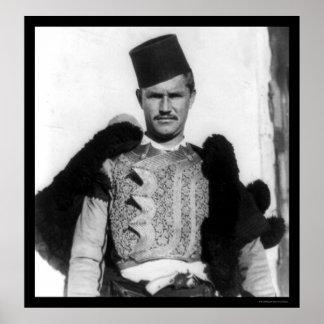 Shkypetars Costume Albania 1923 Poster