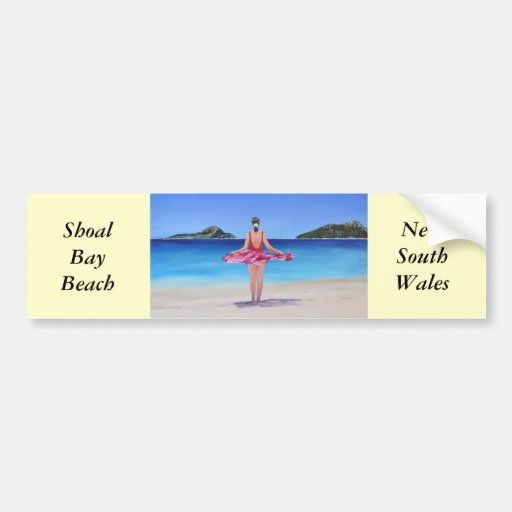 Shoal Bay Beach Bumper Stickers