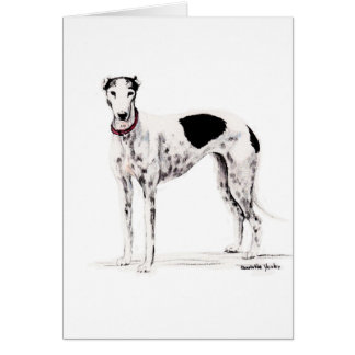 Shobe the Greyhound Dog Art Note Card