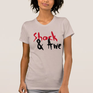 shock and awe designer t-shirt