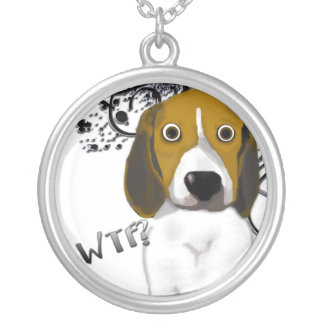 Shocked Beagle Silver Plated Necklace