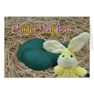 Shocked Easter Bunny-customize Card
