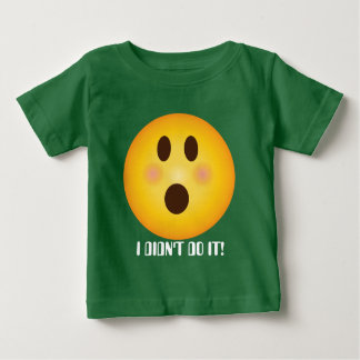 Shocked Emoji add text baby bodysuit t-shirt