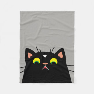 Shocked Kitty Fleece Blanket