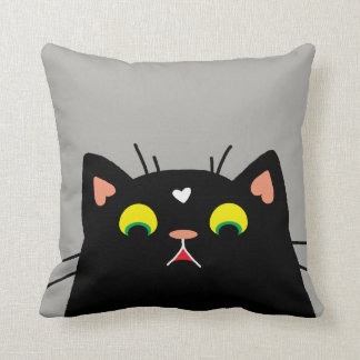 Shocked Kitty Throw Pillow