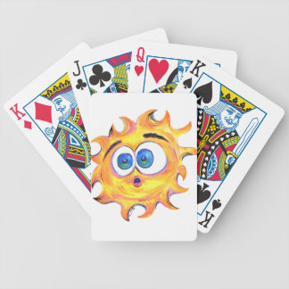 SHOCKED SUNSHINE BICYCLE PLAYING CARDS