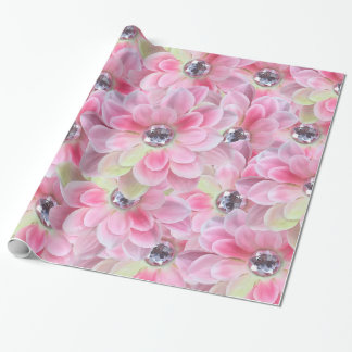 Shocking Flora Gems Wrapping Paper