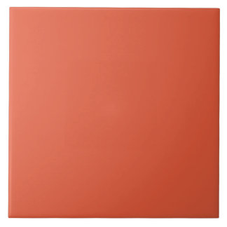 Shocking Orange Large Square Tile