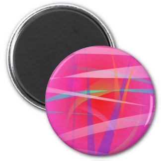 Shocking Pink Abstract Art Refrigerator Magnet