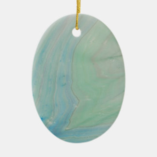 Shockwave Ceramic Oval Ornament