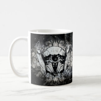 Shockwave Headshot Line Art Coffee Mug