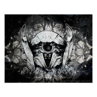 Shockwave Headshot Line Art Poster