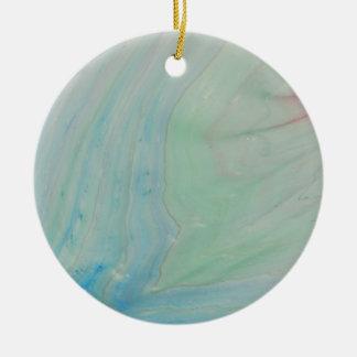 Shockwave Round Ceramic Ornament