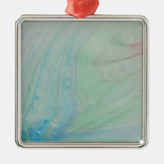 Shockwave Silver-Colored Square Ornament