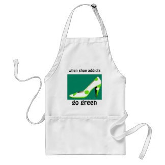 Shoe Addicts Go Green Humor Standard Apron