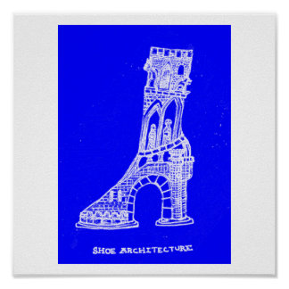 Shoe Architecture Print (Blueprint Style)