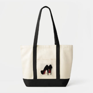 Shoe Bag Black Zipper Heels