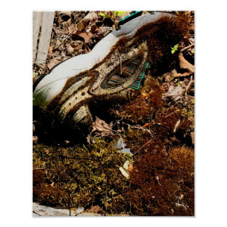 shoe covered in moss poster