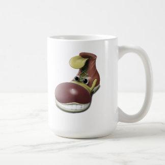 shoe cup basic white mug