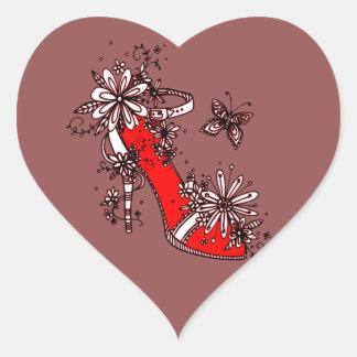 Shoe Heart Sticker
