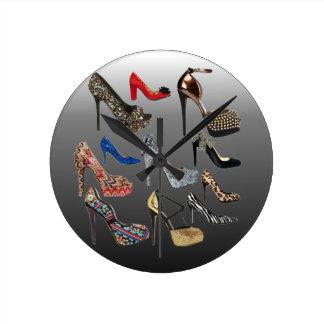 Shoe High Heels Collage Customize Clock