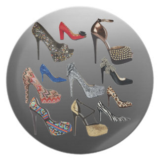 Shoe High Heels Collage Customize Dinner Plates