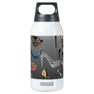Shoe High Heels Collage Customize Insulated Water Bottle