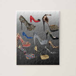 Shoe High Heels Collage Customize Puzzles