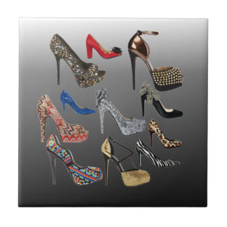 Shoe High Heels Collage Customize Tile