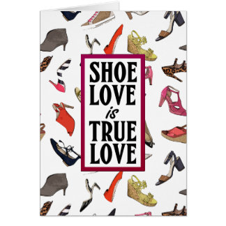 Shoe love blank greeting card