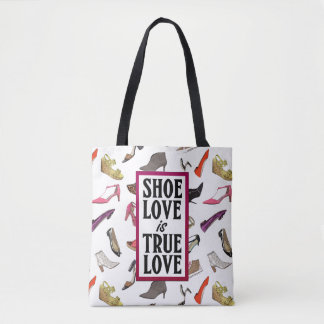 Shoe Love is True Love trendy shoes design Tote Bag