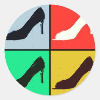 Shoe Lover Classic Round Sticker