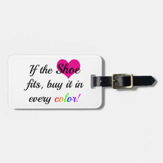 Shoe Lover Luggage Tag