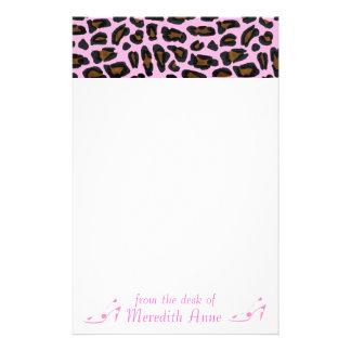Shoe Lover Pink Leopard Print Stationery