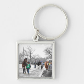 Shoe Loves Shoe Silver-Colored Square Keychain