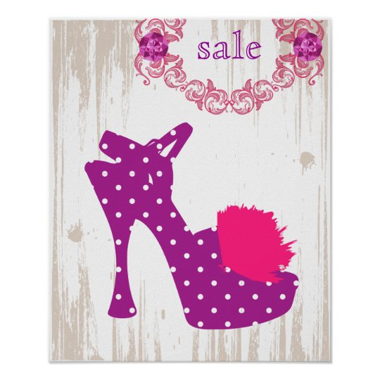 SHOE Poster Purple - FASHION Posters