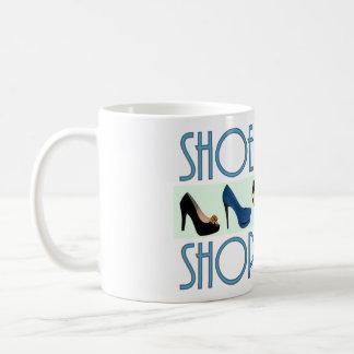 shoe shopaholic coffee mug