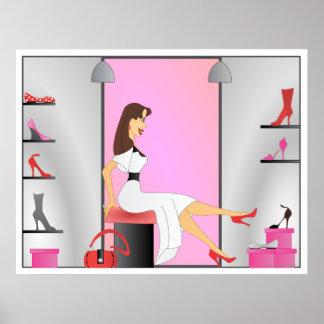 Shoe Shopping Poster