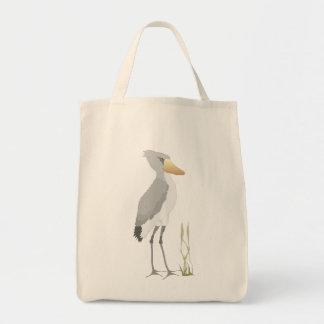 Shoebill Stork Grocery Tote