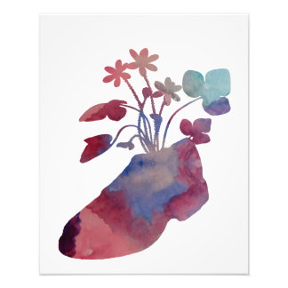 Shoeflowers Photo Print