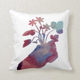 Shoeflowers Throw Pillow