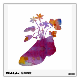 Shoeflowers Wall Sticker