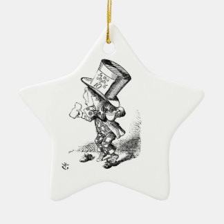 Shoeless Mad Hatter Ceramic Ornament