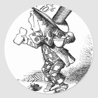 Shoeless Mad Hatter Classic Round Sticker