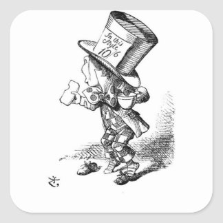 Shoeless Mad Hatter Square Sticker