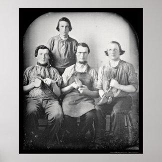 Shoemakers Shoes Daguerreotype 1846 Poster