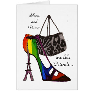 Shoes and Purses Card