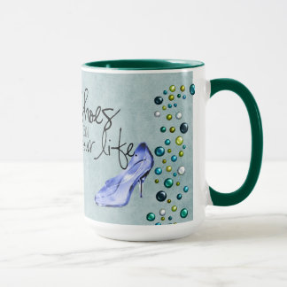 Shoes can change your life- Teal Mug