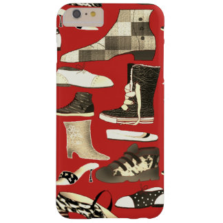 Shoes Grayscale Modern Retro Red Background Barely There iPhone 6 Plus Case